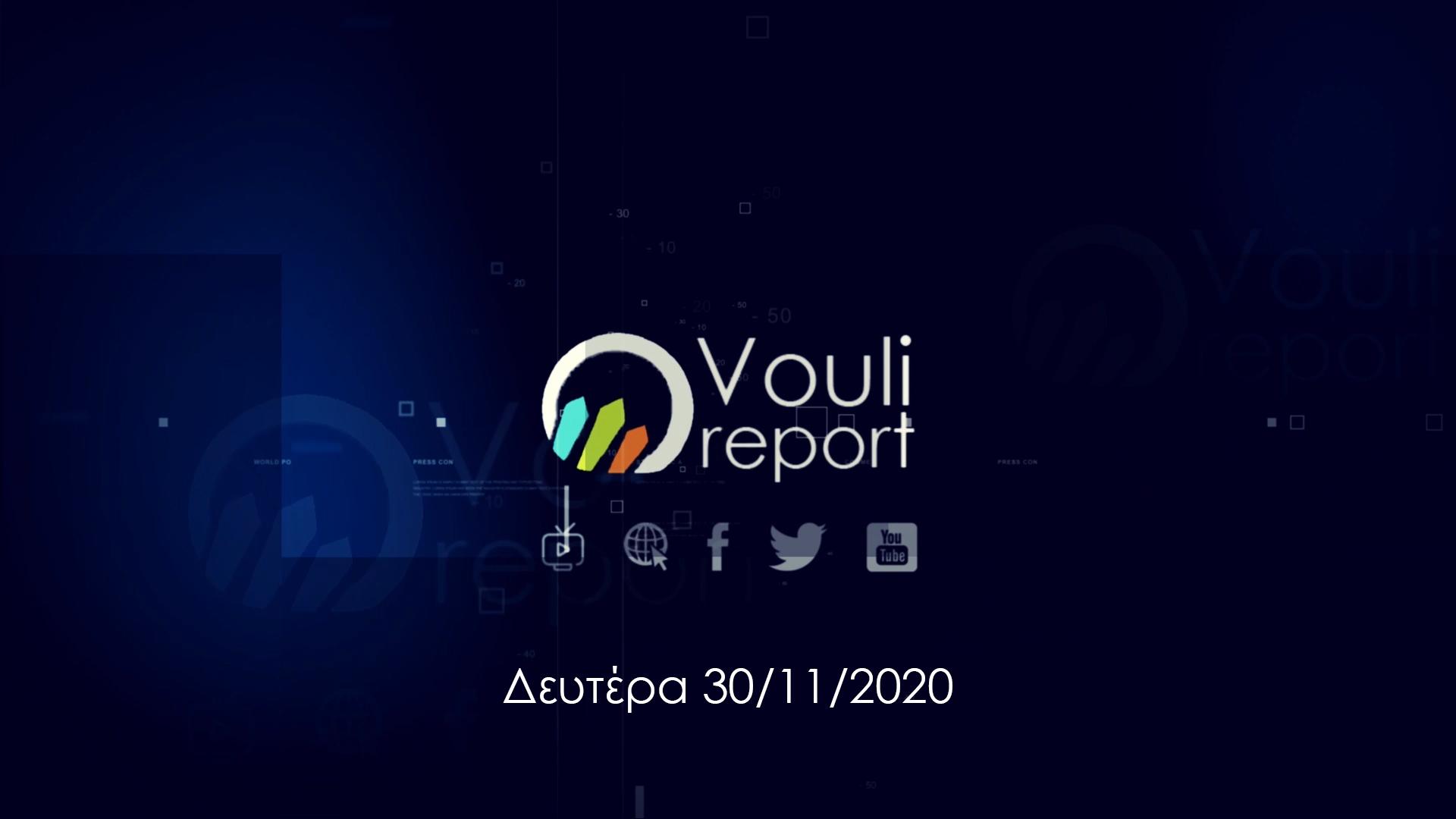 Vouli report | 30/11/2020