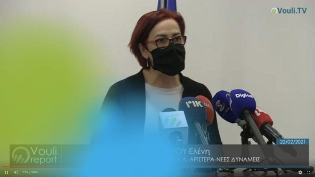 Ελένη Μαύρου | Vouli report 22/02/2021