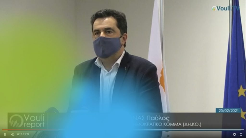 Παύλος Μυλωνάς   Vouli report 25/02/2021