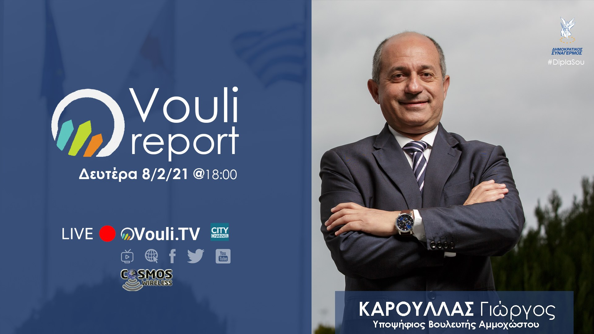 Vouli Report - Γιώργος Κάρουλλας 8/02/2021