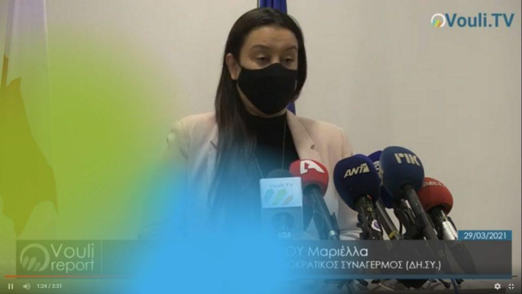 Μαριέλλα Αριστείδου | Vouli report 29/03/2021